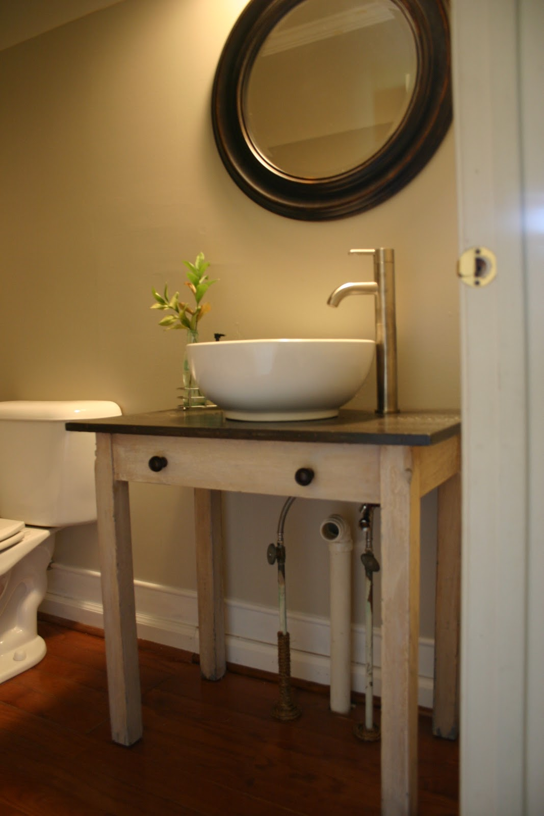 Getting Down To Business East Coast Creative Blog - Bathroom vanity pipes
