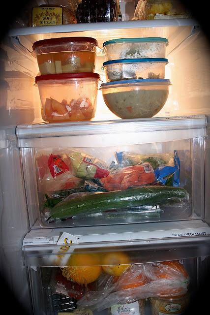 inside a refrigerator
