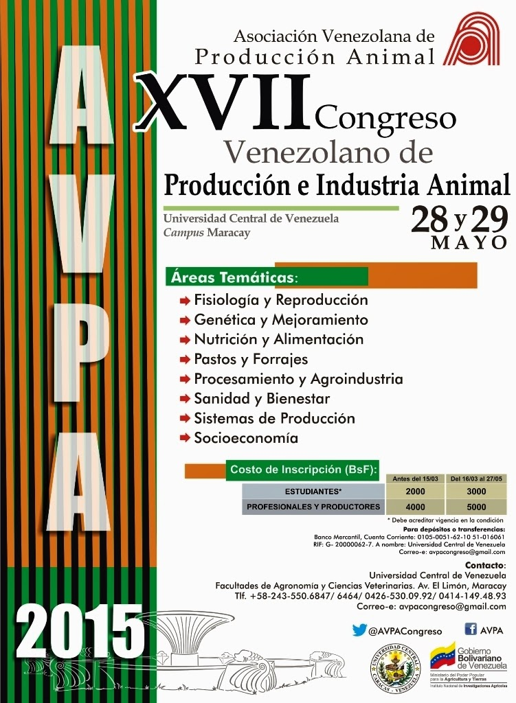 XVII CONGRESO VENEZOLANO DE PRODUCCION E INDUSTRIA ANIMAL.