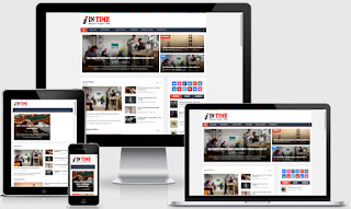 Intime Magazine Responsive Blogger Templates