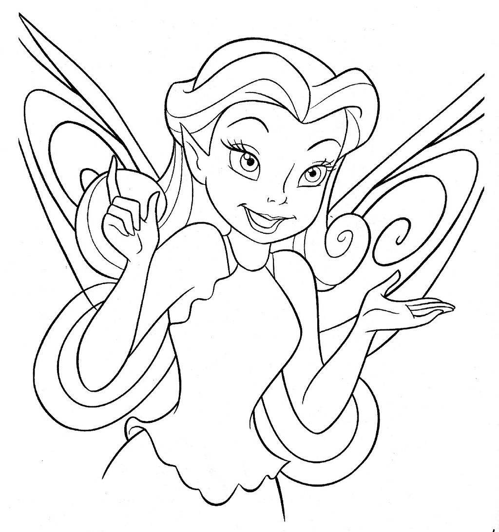 Cartoons Coloring Pages: Disney Fairies Coloring Pages