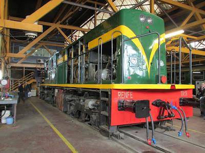 locomotora serie 1000 lleida expo tren  salon ferroviario 2013