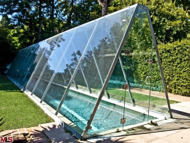 Celebrity real estate the studio city home claimed to be for Swimming pool greenhouse