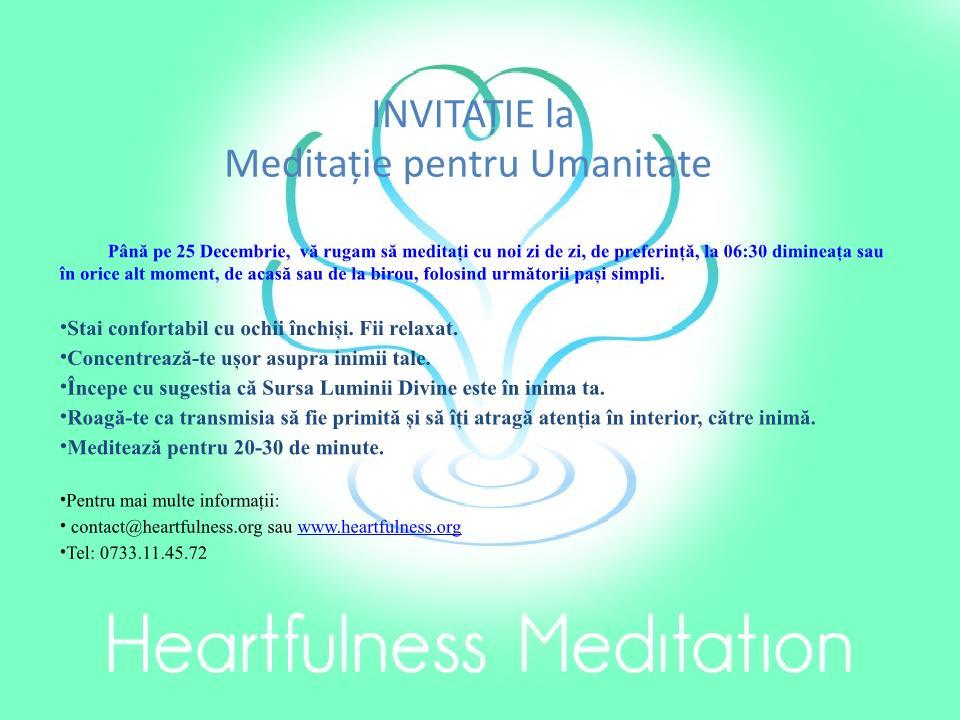 Meditație pentru Umanitate