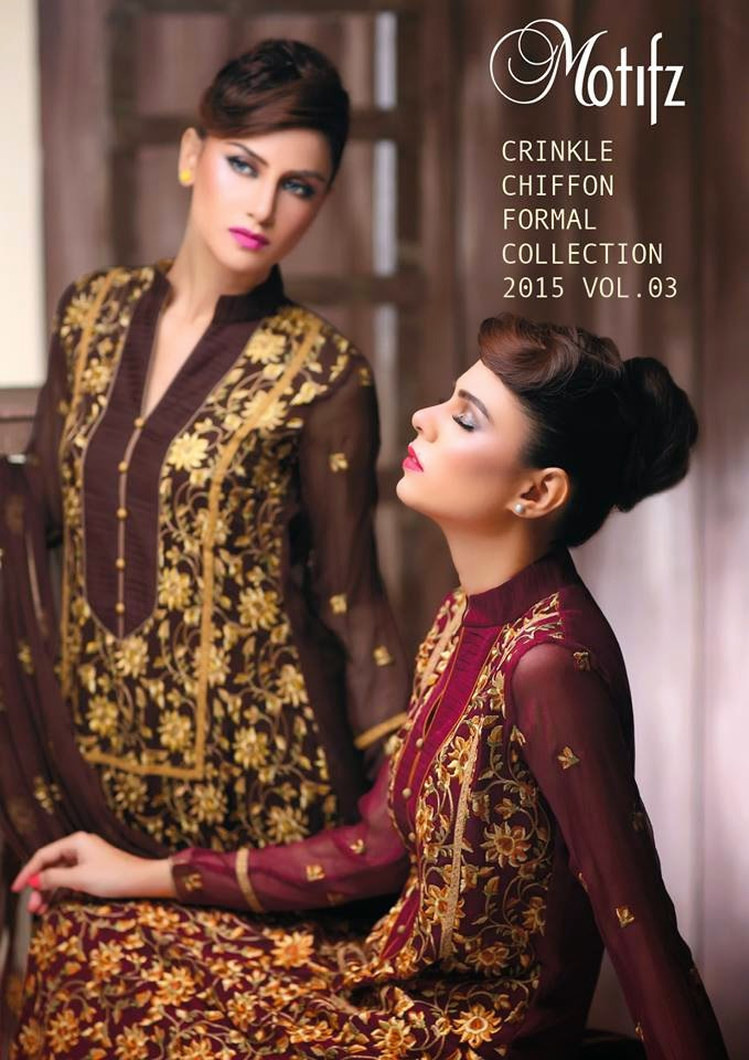 Motifz long chiffon dresses