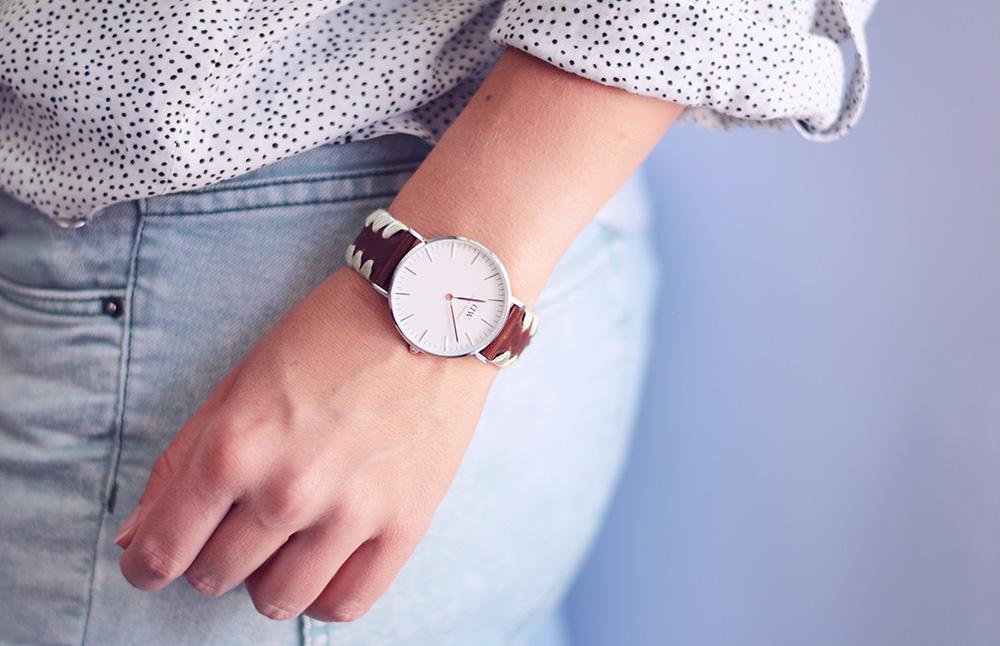 rotkehlchen diy daniel wellington embroidered watchband. Black Bedroom Furniture Sets. Home Design Ideas