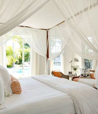Ideas for romantic tropical canopy beds completely coastal for Tropical canopy bed
