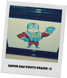 Father's Day, photo frame, Super Dad