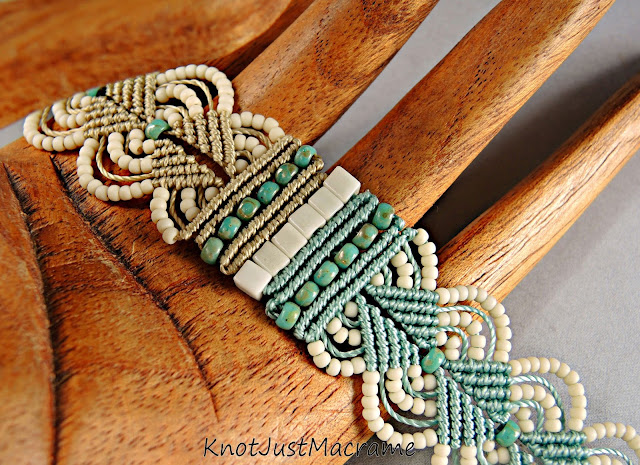 Micro macrame by Sherri Stokey of Knot Just Macrame.