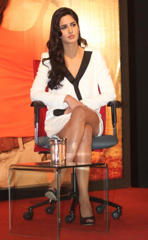 Katrina Kaif in White Mini Dress at Jab Tak Hai Jaan ...