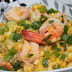 Sauted Corn with Shrimps