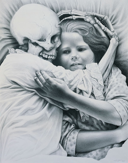 Death and the Maiden by Laurie Lipton