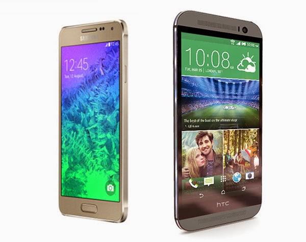 Galaxy Alpha Vs HTC One M8
