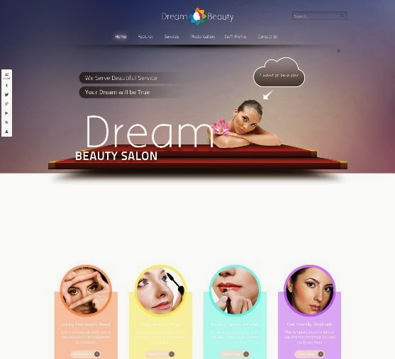 Dream Beauty Salon Responsive Joomla Template