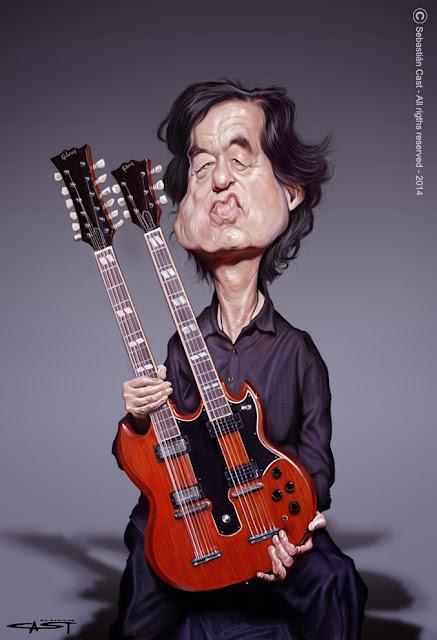 """Jimmy Page"" por Sebastián Cast"