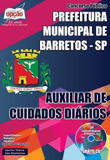 Apostila Concurso Prefeitura Municipal de Barretos - Auxiliar de Cuidados Diários