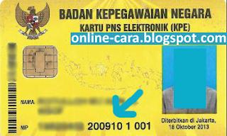 Nomor Kartu KPE PNS