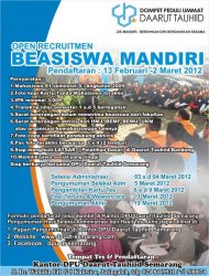 Beasiswa Mandiri 2012 2013 Hmj Matematika Uin Walisongo Semarang