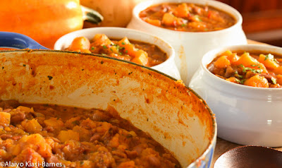 One-Pot Meal: Fall Butternut Squash Chili--Pescetarian Journal