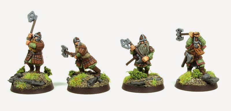 Lord of The Rings Strategy Battle Game - Dwarrf Warriors with Two-handed Axes