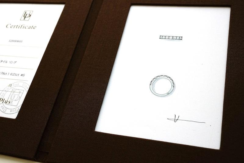 マリッジリング(結婚指輪)をオーダーしたらデザイン画をプレゼントされた。