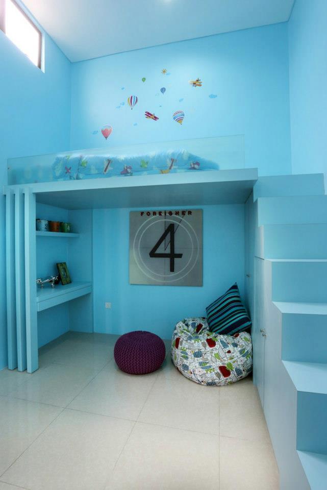 idea bilik tidur anak susun atur sioca