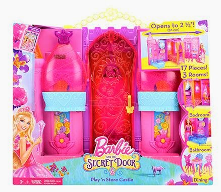 Doll House Set - Barbie The Secret Door - Play And Store Castle