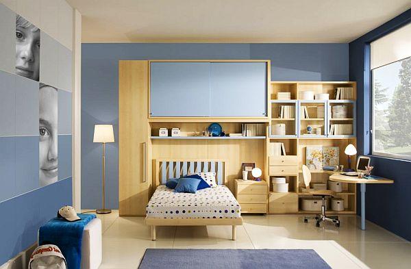 Habitaciones con estilo dormitorios para adolescentes for Habitacion juvenil azul