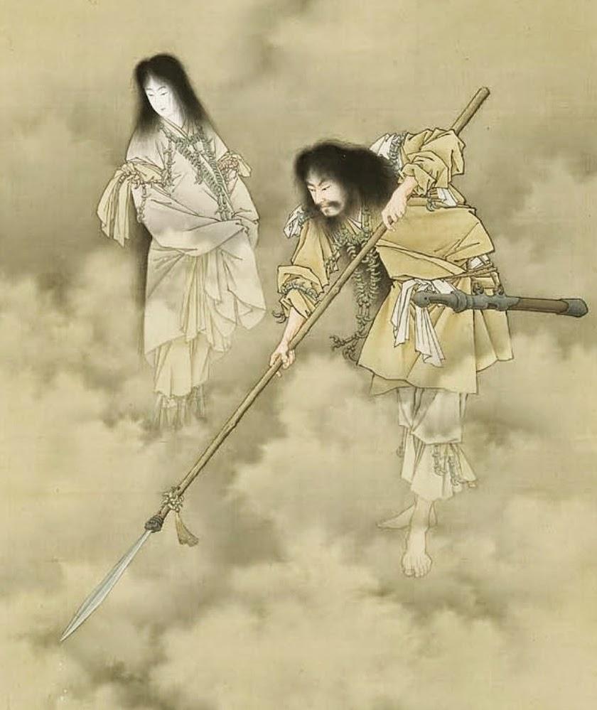 Izanagi e Izanami, los Adán y Eva japoneses Izanami-e-Izanagi