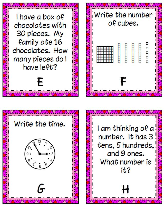 Smiling and Shining in Second Grade: I Spy Math Problems