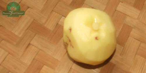Tỉa hoa cúc từ khoai tây