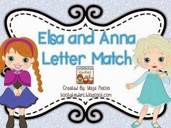 http://www.teacherspayteachers.com/Product/Elsa-and-Anna-Letter-Match-1597350