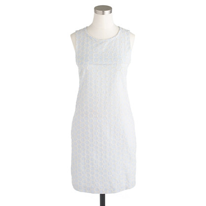 Seersucker Eyelet Shift Dress