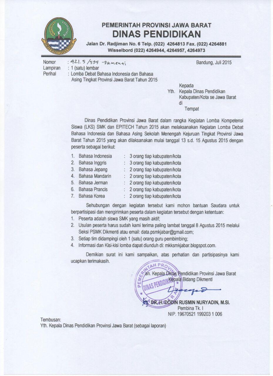 Mkksmk Jabar Lomba Debat Bahasa Tingkat Provinsi Jawa Barat