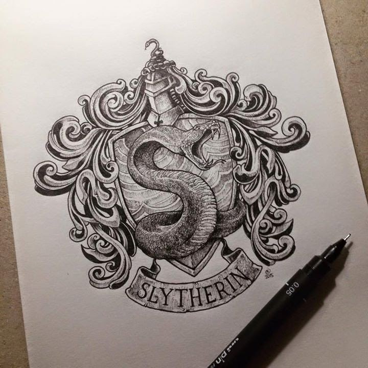 15-Harry-Potter-Slytherin-Kerby-Rosanes-Detailed-Moleskine-Doodles-Illustrations-and-Drawings-www-designstack-co