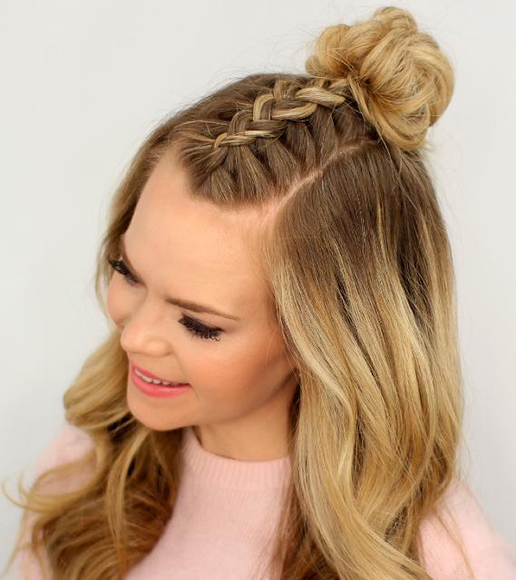 tendência, meio coque, half bun, inspiração, penteado, verão