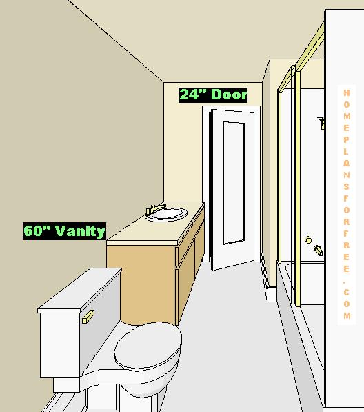 Bathroom plans views for Bathroom design 6 x 6