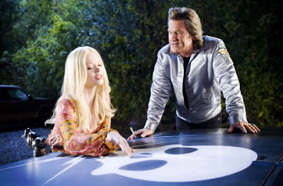 Rose McGowan and Kurt Russell in Death Proof