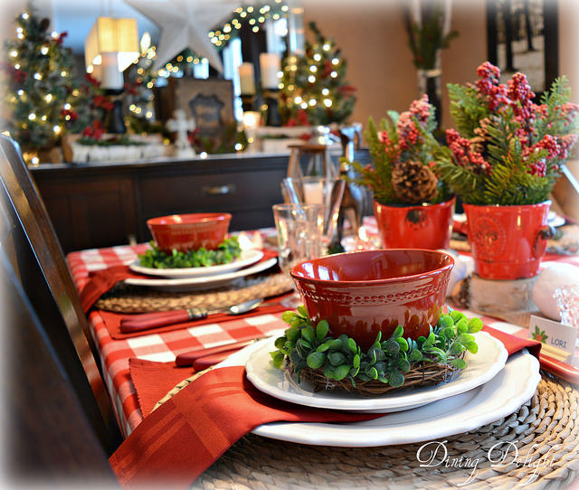 Dining Delight-Christmas Table Setting-Treasure Hunt Thursday- From My Front Porch To Yours