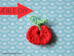 Hæklede miniæbler med DIY