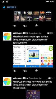 twitter app UI more tweets