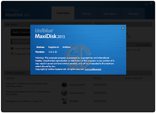 patch Uniblue MaxiDisk 2013 1.0.3.10 Full