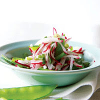 Snow Pea, Scallion, and Radish Salad