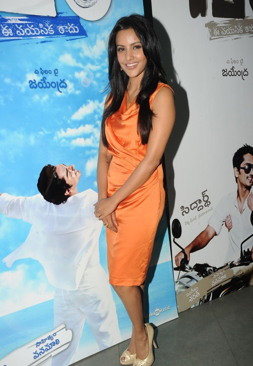 Priya+anand+in+180+movie+Audio+Release+stills+%25286%2529 Latest Actress Priya Anand Photoshoot in Orange Dress