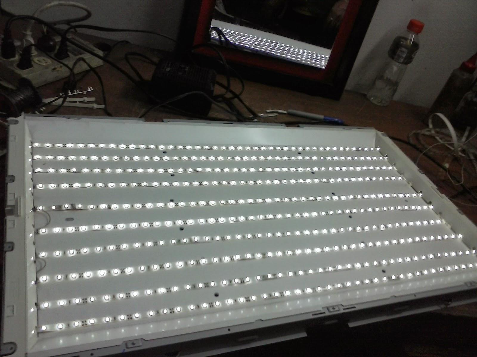 Jasp electronica convertir tv lcd a led for Tiras led para tv