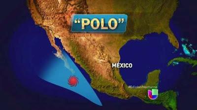"""ESTADOS DEL PACIFICO MEXICANO MANTIENE ALERTA POR HURACAN """"POLO"""" CATEGORIA 1, 18 DE SEPTIEMBRE 2014"""