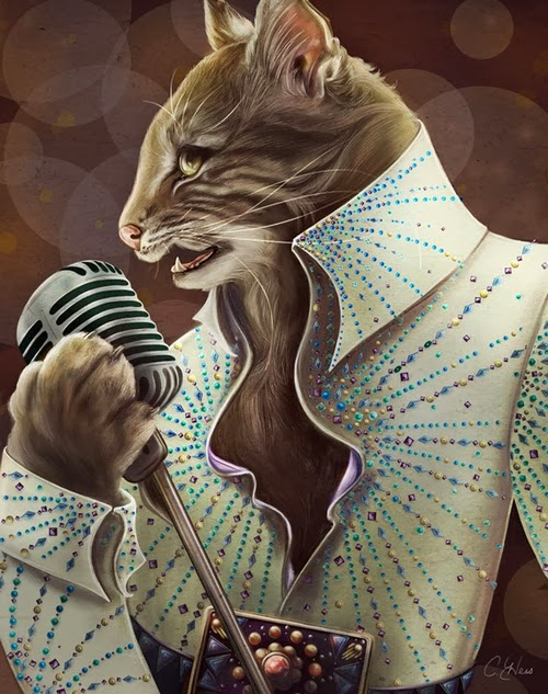 03-Elvis-Presley-Animals-From-History-Illustrator-&-Writer-Christina-Hess-www-designstack-co
