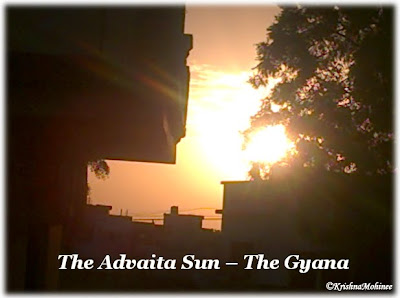 Image showing Rising Sun expressing The Advaita Sun - The Gyana, peace of Gyana in fast paced life