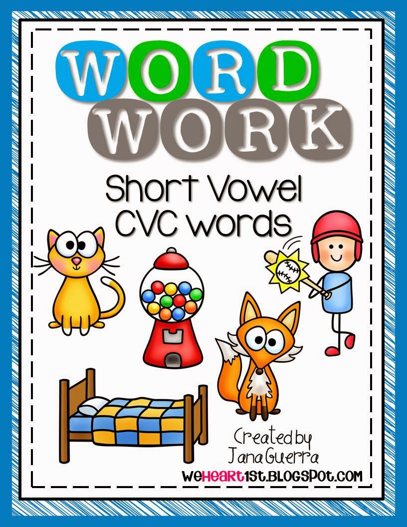 http://www.teacherspayteachers.com/Product/Word-Work-BUNDLE-Short-Vowel-CVC-Weekly-Activities-1360421