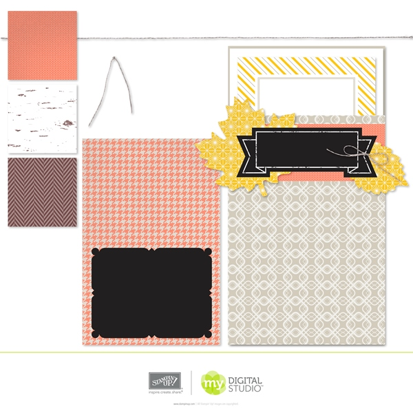 Stampin' Up! Thankful Tablescape Digital Kit